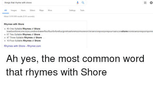 Things That Rhyme With Shore Ll Images News Videos Maps More ...