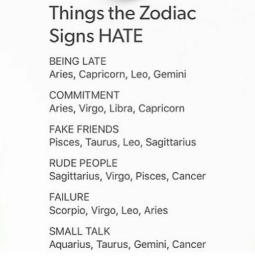 Things the Zodiac Signs HATE BEING LATE Aries Capricorn Leo Gemini