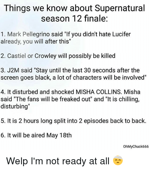 Things We Know About Supernatural Season 12 Finale 1 Mark