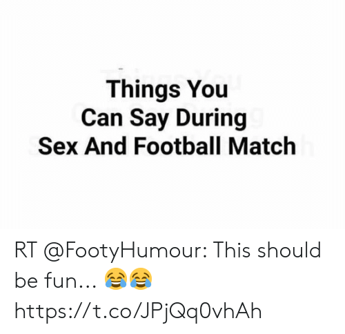 football and sex