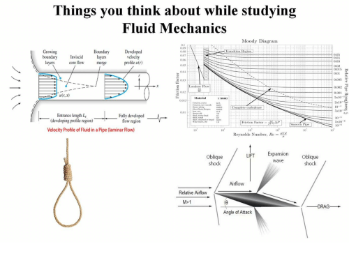 Things You Think About While Studying Fluid Mechanics Moody Diagram