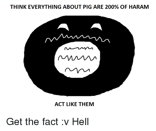 THINK EVERYTHING ABOUT PIG ARE 200% OF HARAM ACT LIKE THEM