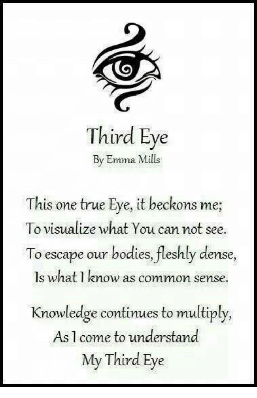 Third Eye By Emma Mills This One True Eye It Beckons Me To Visualize