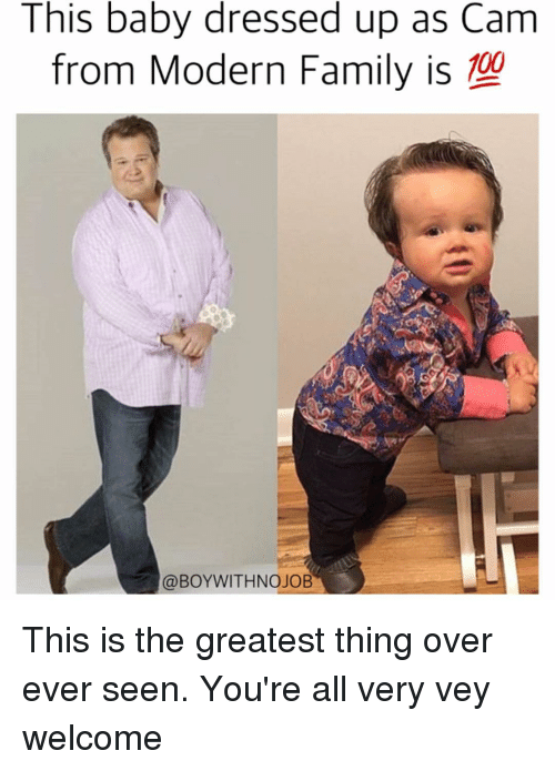 Funny Dress And Dresses This Baby Dressed Up As Cam From Modern Family