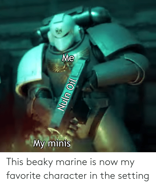 Character, Marine, and Now: This beaky marine is now my favorite character in the setting