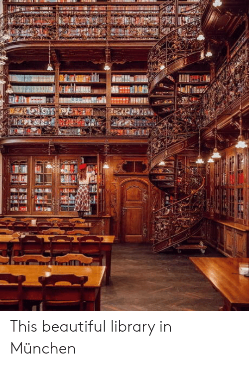 Beautiful, Library, and Munchen: This beautiful library in München
