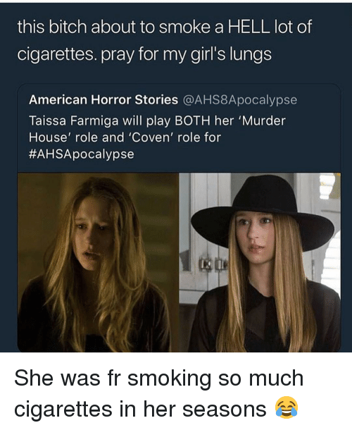 This Bitch About to Smoke a HELL Lot of Cigarettes Pray for