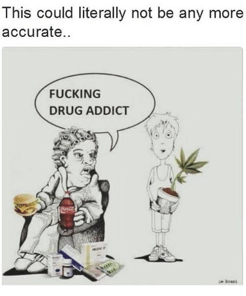 Fucking, Memes, and Drug: This could literally not be any more  accurate  FUCKING  DRUG ADDICT  ue Braa