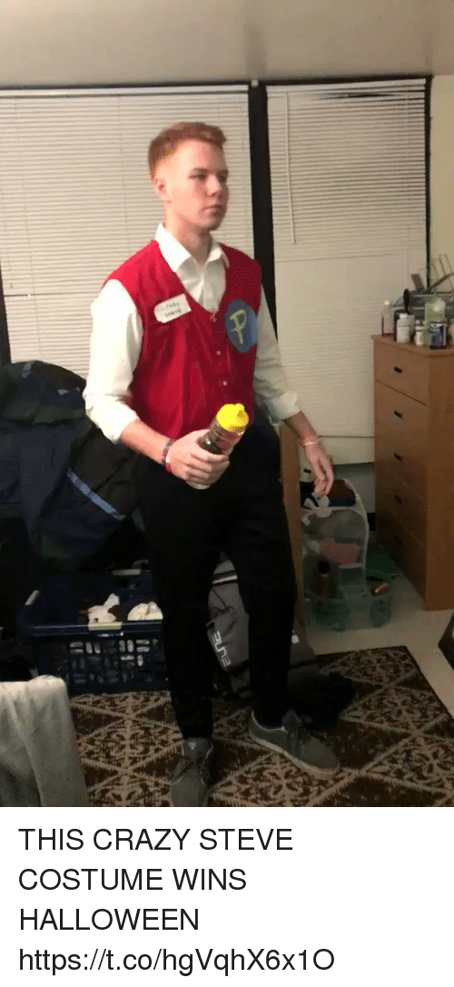 THIS CRAZY STEVE COSTUME WINS HALLOWEEN //t.co/hgVqhX6x1O  sc 1 st  Funny & THIS CRAZY STEVE COSTUME WINS HALLOWEEN httpstcohgVqhX6x1O | Crazy ...