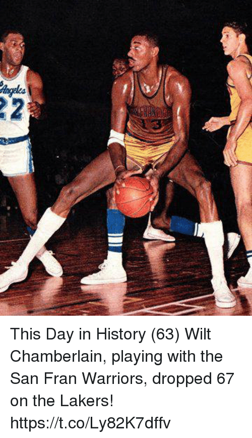 reputable site 31cdc 0525b This Day in History 63 Wilt Chamberlain Playing With the San ...