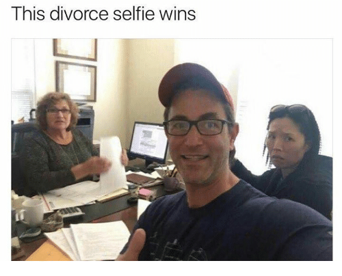 Dank, Selfie, and Divorce: This divorce selfie wins