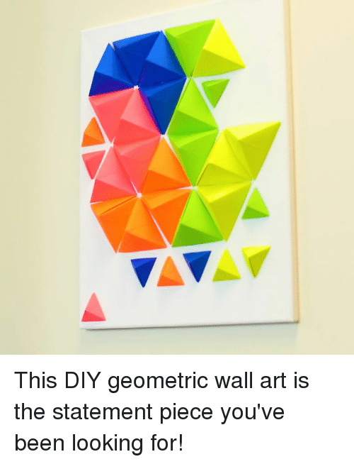 This DIY Geometric Wall Art Is the Statement Piece You\'ve Been ...