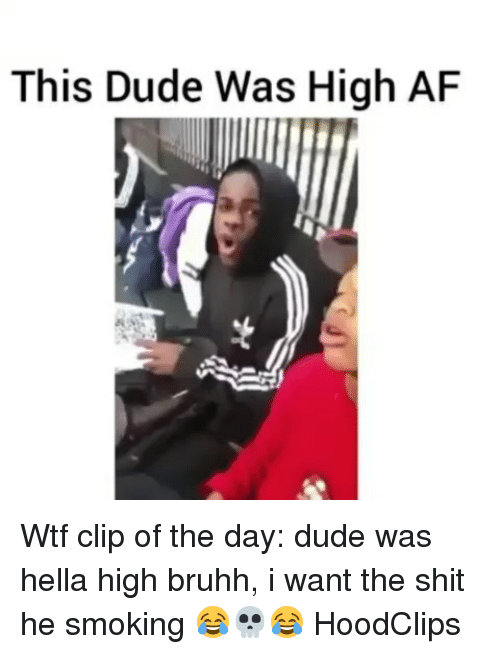 Af, Dude, and Funny: This Dude Was High AF Wtf clip of the day: dude was hella high bruhh, i want the shit he smoking 😂💀😂 HoodClips