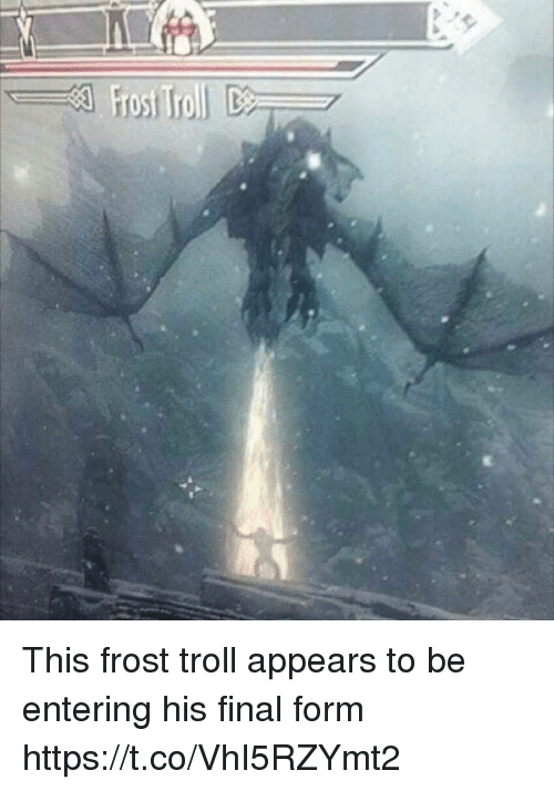Troll, Frost, and Final: This frost troll appears to be entering his final form https://t.co/VhI5RZYmt2
