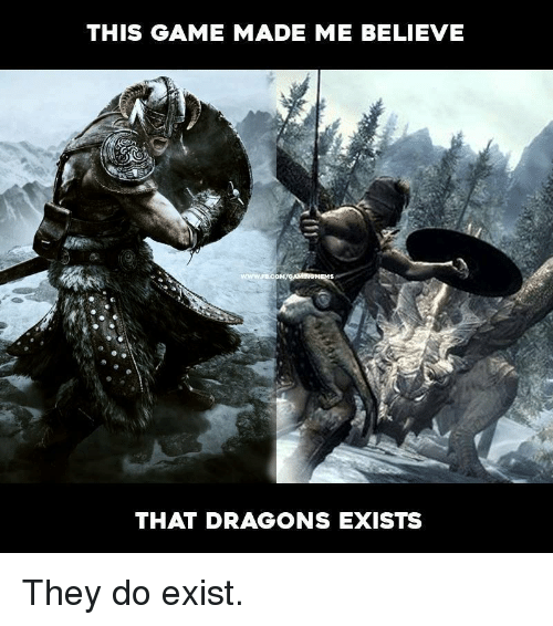 This Game Made Me Believe That Dragons Exists They Do Exist Meme