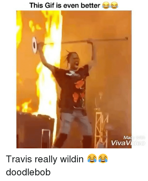 this gif is even better mad vivav travis really wildin 29254654 desp i cant stop laughing at this pic from travis scott's concert