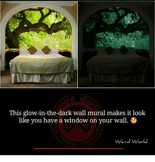 This Glow In The Dark Wall Mural Makes It Look Like You Have A