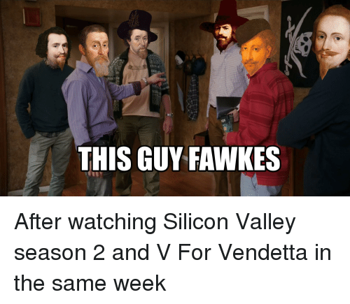This Guy Fawkes After Watching Silicon Valley Season 2 And V For