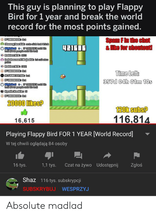 This Guy Is Planning to Play Flappy Bird for 1 Year and
