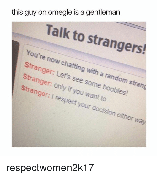 Omegle talk to boys