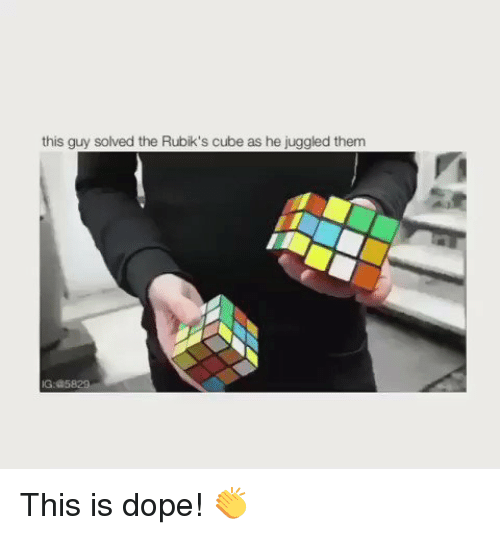 Memes, 🤖, and Cube: this guy solved the Rubik's cube as he juggled them This is dope! 👏