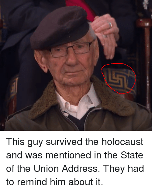 Reddit, State of the Union Address, and Holocaust