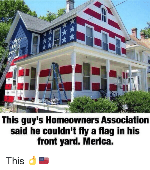 this guy s homeowners association said he couldn t fly a flag in his