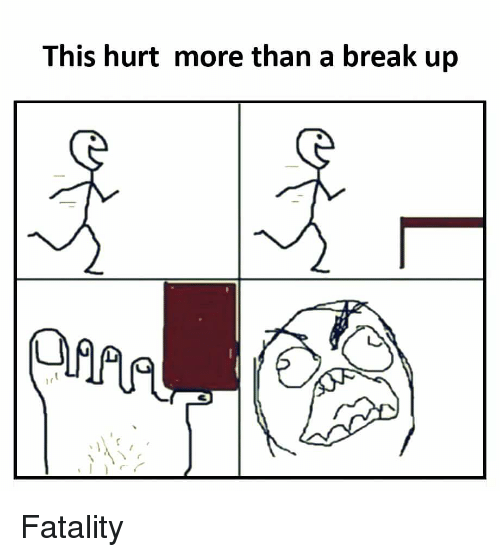 This Hurt More Than a Break Up Fatality | Reddit Meme on ME ME