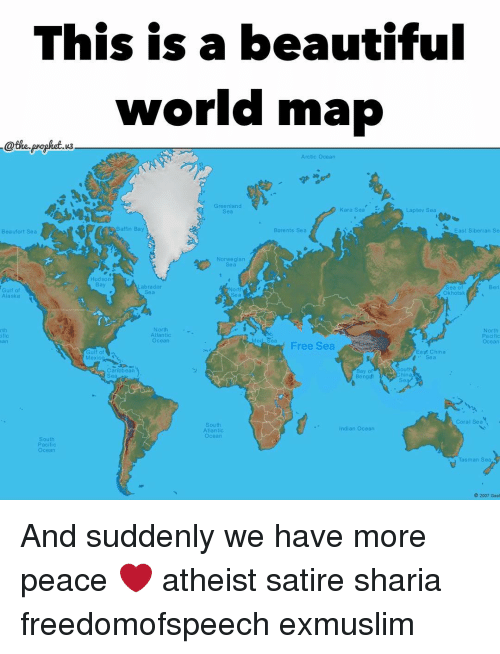This is a beautiful world map prophet arctic ocean greenland kara memes alaska and norwegian this is a beautiful world map the prophet gumiabroncs Choice Image