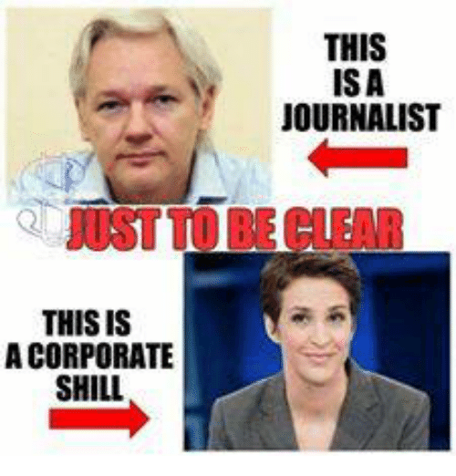 Memes, 🤖, and Corporation: THIS IS  A CORPORATE  SHILL  THIS  ISA  JOURNALIST