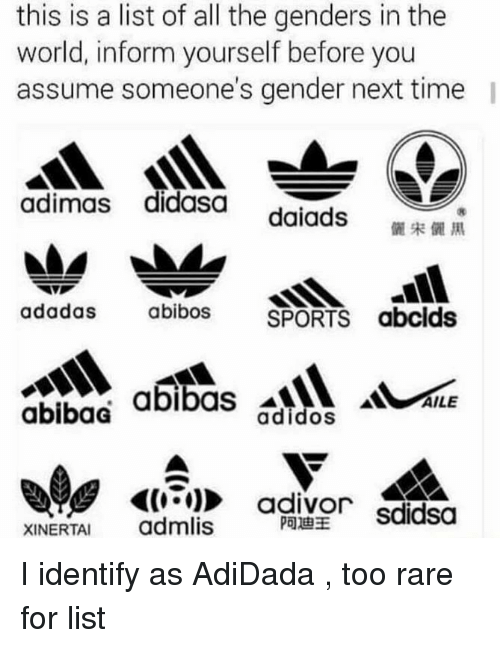 this is a list of all the genders in the 7915265 ✅ 25 best memes about list of all the genders list of all the