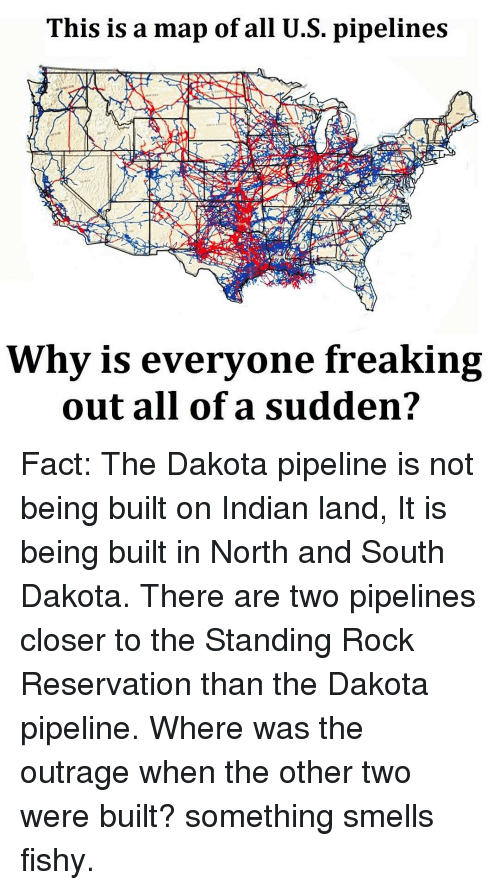 Best Memes About Something Smells Fishy Something Smells - Us pipeline map meme