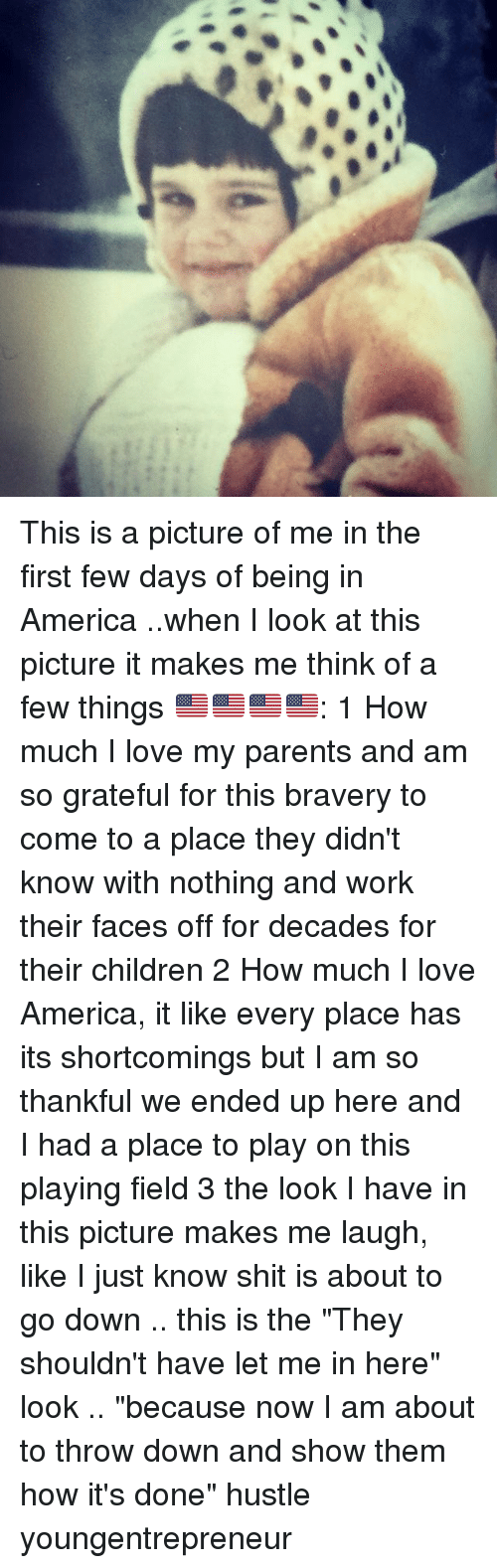 """America, Children, and Love: This is a picture of me in the first few days of being in America ..when I look at this picture it makes me think of a few things 🇺🇸🇺🇸🇺🇸🇺🇸: 1 How much I love my parents and am so grateful for this bravery to come to a place they didn't know with nothing and work their faces off for decades for their children 2 How much I love America, it like every place has its shortcomings but I am so thankful we ended up here and I had a place to play on this playing field 3 the look I have in this picture makes me laugh, like I just know shit is about to go down .. this is the """"They shouldn't have let me in here"""" look .. """"because now I am about to throw down and show them how it's done"""" hustle youngentrepreneur"""