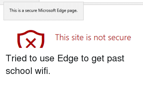 This Is a Se Cure Microsoft Edge Page This Site Is Not