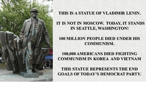 THIS IS a STATUE OF VLADIMIR LENIN IT IS NOT IN MOSCOW TODAY IT ...