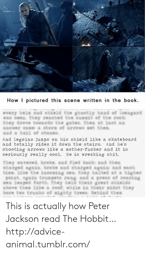 Advice, Tumblr, and Animal: This is actually how Peter Jackson read The Hobbit…http://advice-animal.tumblr.com/