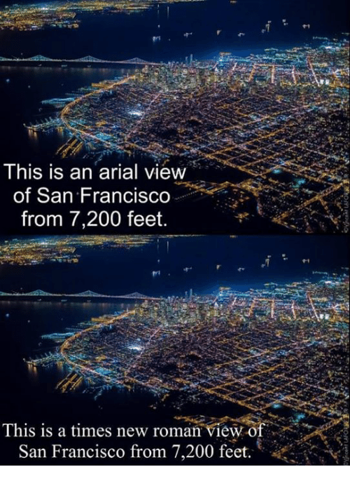 This Is An Arial View Of San Francisco From 7200 Feet This