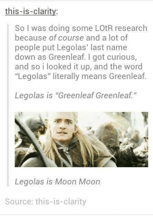 This-Is-Claritv So I Was Doing Some LOtR Research Because ...