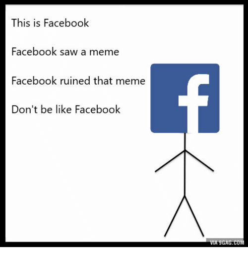 Funny Meme For Facebook Timeline : This is facebook saw a meme ruined that