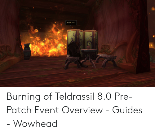 This Is Fine Burning of Teldrassil 80 Pre-Patch Event