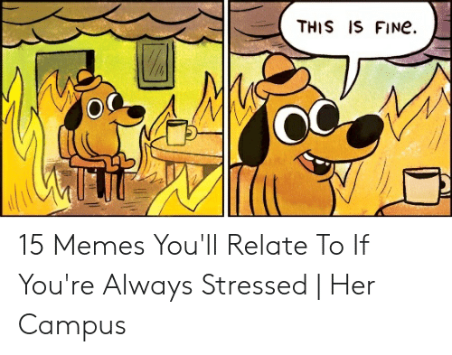 Memes, Her, and Fine: THIS IS FINe.  OC 15 Memes You'll Relate To If You're Always Stressed | Her Campus