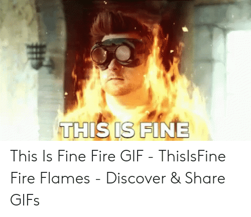 THIS IS FINE This Is Fine Fire GIF - ThisIsFine Fire Flames
