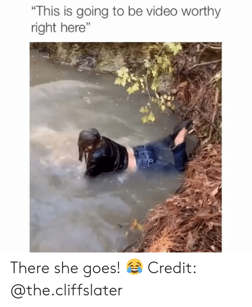 "Memes, Video, and 🤖: ""This is going to be video worthy  right here""  15 There she goes! 😂 Credit: @the.cliffslater"