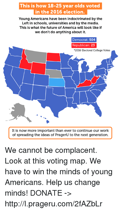 This Is How 18-25 Year Olds Voted in the 2016 Election Young ...