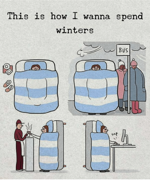 Memes, 🤖, and How: This is how I wanna spend  winters  tap
