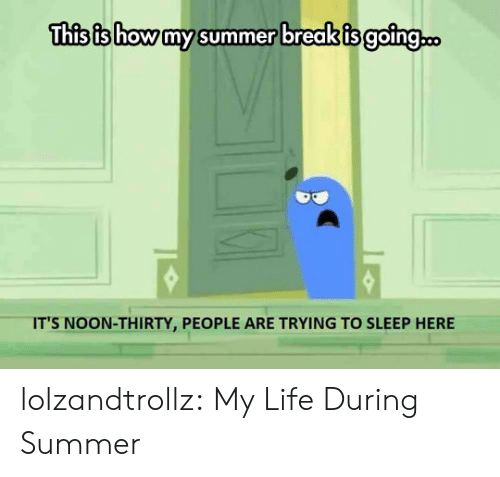 Life, Tumblr, and Summer: This is how my summer break is going..  IT'S NOON-THIRTY, PEOPLE ARE TRYING TO SLEEP HERE lolzandtrollz:  My Life During Summer