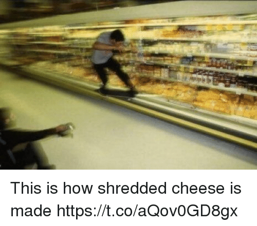 Funny, How, and Cheese: This is how shredded cheese is made https://t.co/aQov0GD8gx