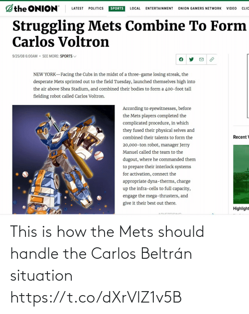 This Is How The Mets Should Handle The Carlos Beltran