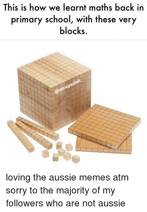 Memes, Sorry, and Aussie: This is how we learnt maths back in  primary s  chool, with these  very  locks. loving the aussie memes atm sorry to the majority of my followers who are not aussie