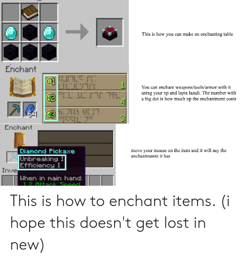 This Is How You Can Make an Enchanting Table Enchant l'ECL מרז